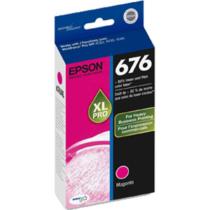 Epson 676XL Magenta ink cartridge, Workforce Pro 4530, 4540