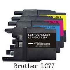 Compatible Brother LC-77XLc cyan ink cartridge