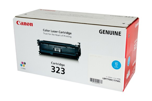 Genuine Canon LBP7750cdn, Cyan 323 laser printer toner cartridge