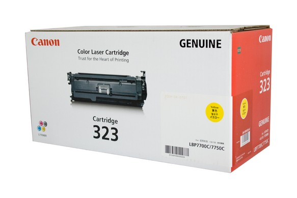 Genuine Canon LBP7750cdn, Yellow 323 laser printer toner cartridge
