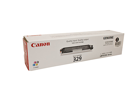 Genuine Canon 329, LBP7018c, Black laser printer toner cartridge