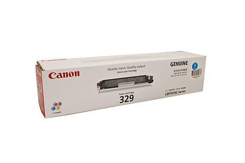 Genuine Canon 329, LBP7018c, Cyan laser printer toner cartridge