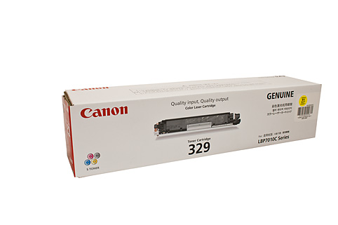 Genuine Canon 329, LBP7018c Yellow laser printer toner cartridge