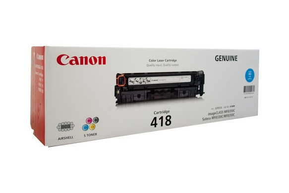 Genuine Canon Colour Laser Printer MF729CX, MF8350CDN, MF8380CDW, MF8580CDW Cyan Toner Cartridge 418