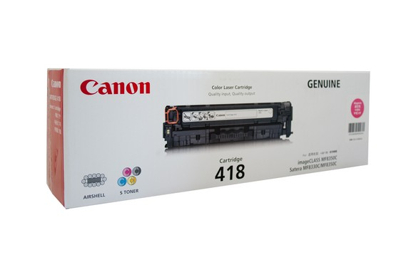 Genuine Canon Colour Laser Printer MF729CX, MF8350CDN, MF8380CDW, MF8580CDW Magenta Toner Cartridge 418