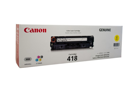 Genuine Canon Colour Laser Printer MF729CX, MF8350CDN, MF8380CDW, MF8580CDW Yellow Toner Cartridge 418