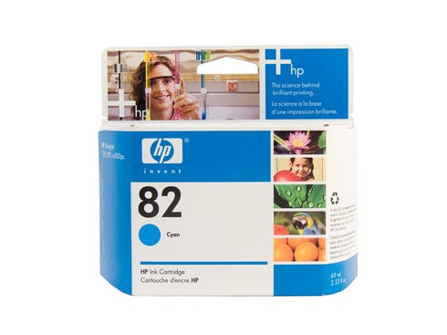 Genuine HP 82 DesignJet Cyan ink cartridge