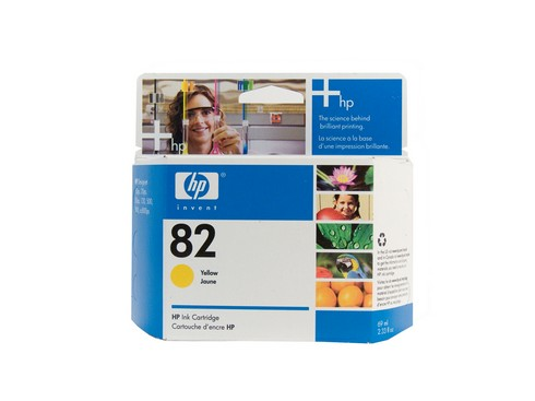 Genuine HP 82 DesignJet Yellow ink cartridge