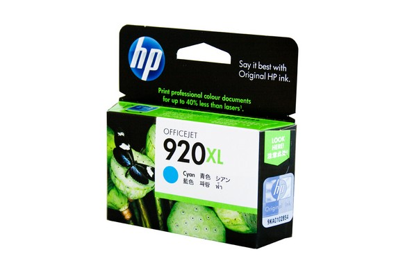 Genuine HP 920XL Officejet Cyan ink cartridge