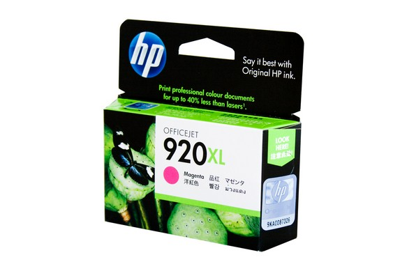 Genuine HP 920XL Officejet Magenta ink cartridge