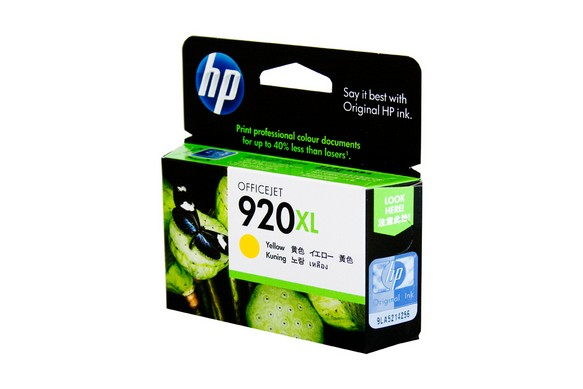 Genuine HP 920XL Officejet Yellow ink cartridge