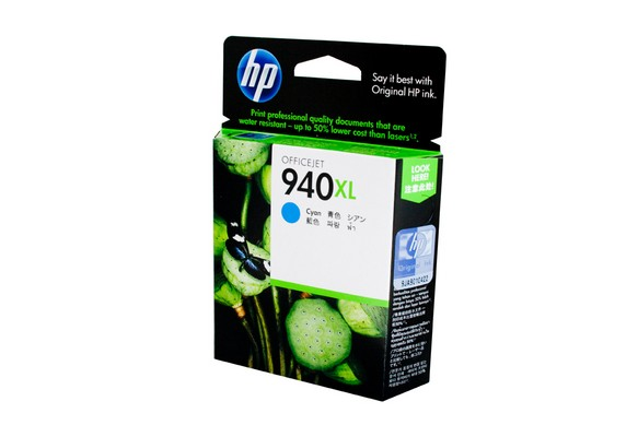 Genuine HP Officejet Pro 8000, 8500, 8500A Cyan High Yield Ink Cartridge 940XL