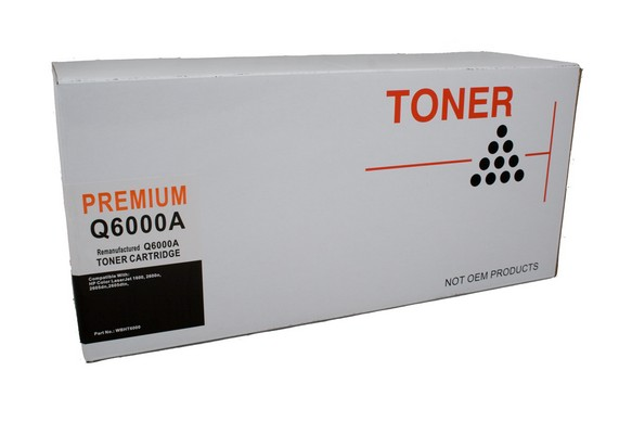 HP 124A, Black LaserJet Compatible toner cartridge q6000a