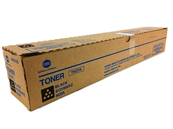 Konica Minolta Bizhub C227, C287, TN221K Black Toner Cartridge