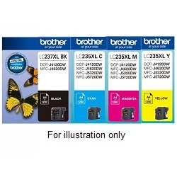Brother LC237XL, LC235XL Value Pack Ink Cartridges