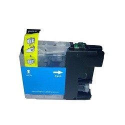 Compatible Brother LC-133c Cyan ink cartridge