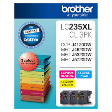 Brother LC235XL,LC-235XLCL3PK Value Colour Pack Ink Cartridges