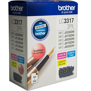 Brother LC3317 Colour Value Pack Ink Cartridges