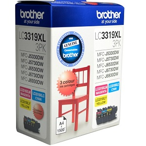 Brother LC3319XL Colour Value Pack Ink Cartridges