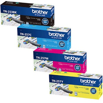 Brother TN-253 Black, TN257 Value Pack Toner Cartridges