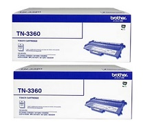 Genuine Brother TN-3360 Double Pack Toner Cartridges