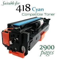 Compatible Canon 418 Cyan laser printer toner cartridge