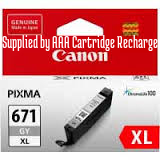 Genuine Canon CLI671XL Grey Ink Cartridge