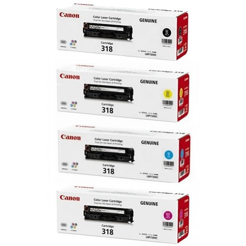 Canon LBP7200cdn LBP7680cx CART 318 Value Pack toner cartridges