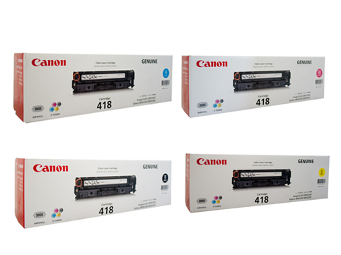 Canon 418 Bundle Value Pack toner cartridges