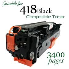 Compatible Canon 418 Black laser printer toner cartridge