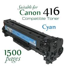 Compatible Canon 416 Cyan laser printer toner cartridge