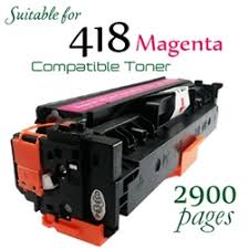 Compatible Canon 418 Magenta laser printer toner cartridge