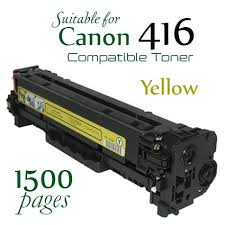 Compatible Canon 416 Yellow laser printer toner cartridge