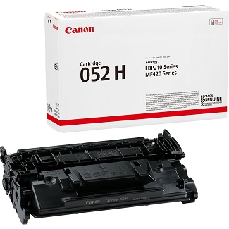 Canon 052H, High Yield Black Toner Cartridge