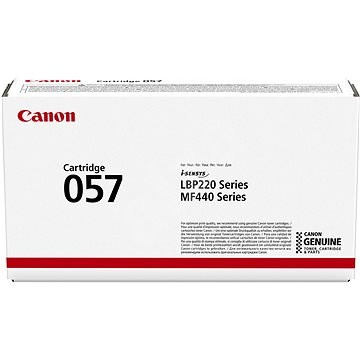 Genuine Canon Laser Printer LBP223dw, LBP228x, ImageClass MF445dw, MF449x Black Toner Cartridge 057