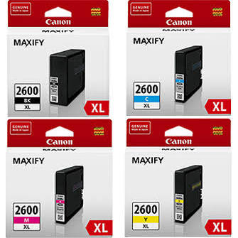 Genuine Canon PGI2600XL Value Pack ink cartridges