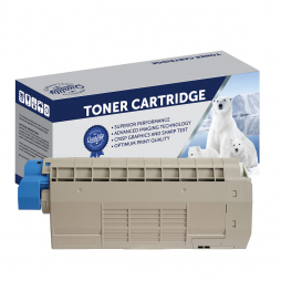 Refurbished Polar Oki C610 Cyan Toner Cartridge 44315311