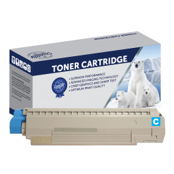 Compatible Oki C810, C830 Cyan Toner Cartridge 44059135