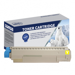 Compatible Oki C810, C830 Yellow Toner Cartridge 44059133