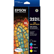 Genuine Epson 252XL Ink Cartridge Value Pack