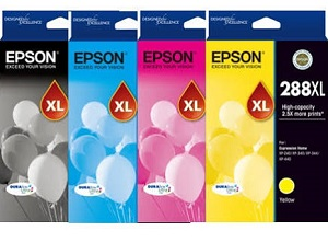Genuine Epson 288XL, Value Pack Ink Cartridges