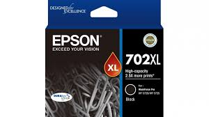 Genuine Epson Colour Ink Printer WF3720, WF3725, WF3730 Black High Yield Ink Cartridge 702XL