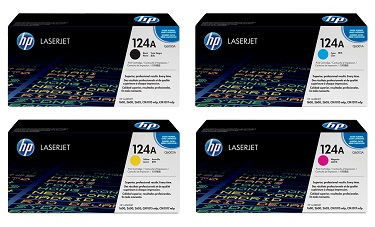 Original HP 124A, LaserJet Value Pack toner cartridges