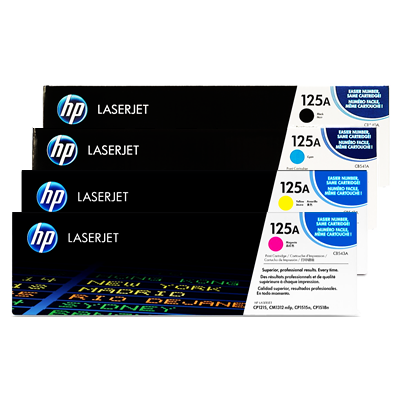 Original HP 125A, LaserJet Value Pack Toner Cartridges