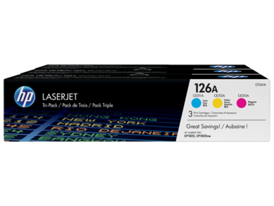 Original HP Colour LaserJet M175, M175a, M175nw, M275, M275nw, cp1025, cp1025nw Mulitcolour Toner Cartridge Pack CF341A