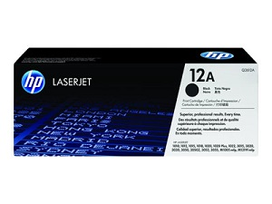 Genuine HP LaserJet 1010, 1012, 1015, 1018, 1020, 1022, 1025, 3015, 3020, 3030, 3050, 3050z, 3052, 3055, M1319 Black Toner Cartridge 12A