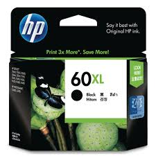 Genuine HP 60XL, Black Ink Cartridge