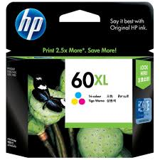 Genuine HP 60XL, Colour Ink Cartridge