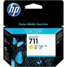 Genuine HP 711 Yellow Ink Cartridge