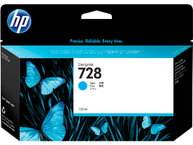 HP 728, Cyan 130ml. Ink Cartridge